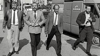 Le juge Giovanni Falcone à Marseille (France), le 21 October 1986