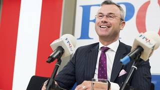 Norbert Hofer during a press conference in Vienna, Austria on May 20, 2019.