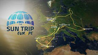 Napenergiával Európa körül