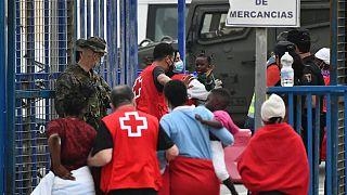 İspanya'daki mülteci kamplarından bir görüntü