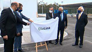 Le président portugais inaugure le câble sous-marin Ellalink