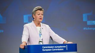Commissioner Ylva Johansson unveiled plans to strengthen the Schengen area.