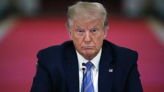 Donald Trump 2020 júliusában, még elnökként