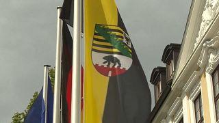 Die Landesflagge Sachsen-Anhalts