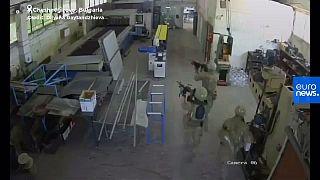 Un momento de la operación militar (captura de pantalla)