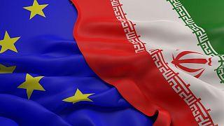پرچم ایران واتحادیه اروپا