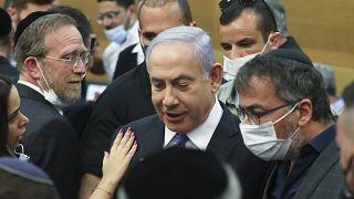 رئيس الوزراء الإسرائيلي بنيامين نتنياهو في الكنيسيت. 2021/06/02