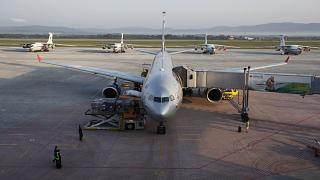 FILE: An Aeroflot Airbus parks in front of older Russian-made planes at the terminal in Vladivostok airport in Vladivostok, Russia, Tuesday, Sept. 11, 2012.