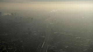 Pollution haze over South East London