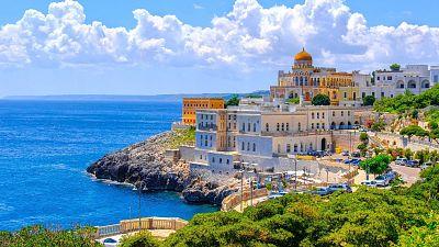 Santa Cesarea Terme in Salento, Apulia, in the region Lecce in south Italy.