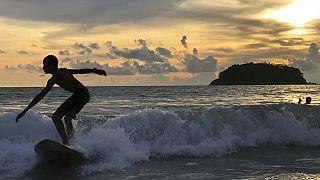 Surfer Kata Beach in Phuket, Thailand, 26.05.2019