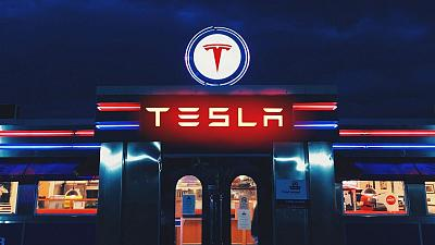 A Euronews composite image of what a diner at a Tesla charging station could look like.