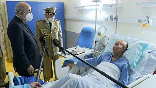 الرئيس الجزائري عبد المجيد تبون يزور زعيم حركة البوليساريو في المستشفى بعد عودته من إسبانيا