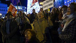 Archivo. Protesta contra la precariedad energética y los precios de la electricidad en España en 2016