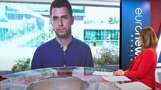 Le plateau d'euronews Serbie
