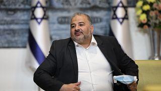 رئيس القائمة العربية الموحدة في الكنيست منصور عباس. 05/04/2021