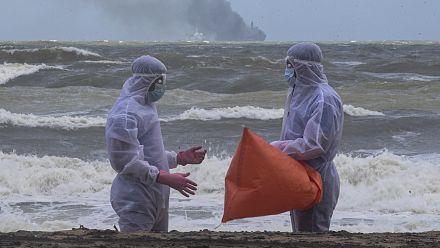 Sri Lanka facing environmental disaster after ship