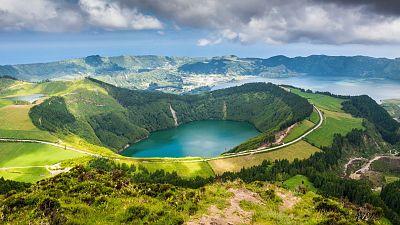 Lake of Sete Cidades, on Sao Miguel Island, Azores, Portugal.