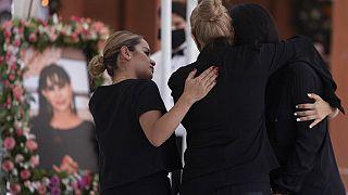 Trauerfeier der Kandidatin Alma Barragan in Mexiko
