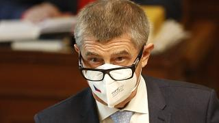 Andrej Babis addressed Czech lawmakers in Parliament before surviving a vote of confidence on Thursday.