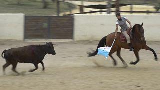 مصارعة الثيران وركوب الخيل
