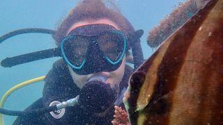 Marine biologist Rosalie Bailie has spent the last 6 months working with REEFolution in Kenya to restore coral reefs.