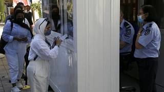 Virus Outbreak Cyprus Chekpoints