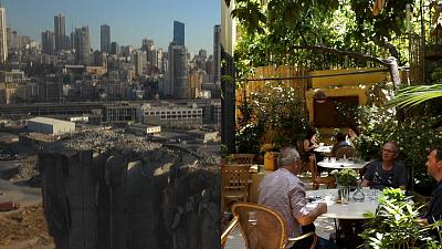 Customers are back at hotels and cafes after a long road to recovery in Beirut