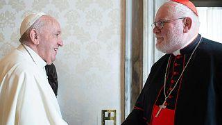 Papa Francis ile Kardinal Reinhard Marx