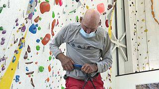 Der 98 Jahre alte schweizer Bergsteiger Marcel Rémy