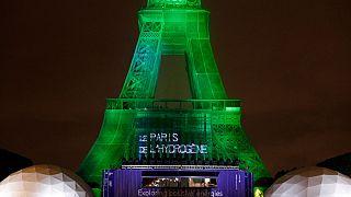 25 maggio 2021:  a Parigi, la torre Eiffel si illumina grazie all'idrogeno