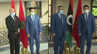 وزير الخارجية المغربي ناصر بوريطة يلتقي كبار المسؤولين الليبيين