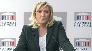 زعيمة اليمين المتطرف الفرنسية مارين لوبان.