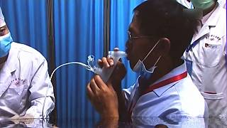 اللقاح البخاخ المستنشق المضاد لكوفيد المطور في الصين للاستخدام في حالات الإصابة الطارئة.