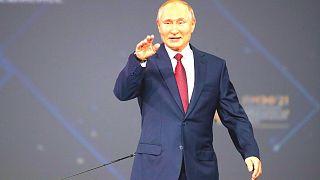 ولادیمیر پوتین در مجمع اقتصادی بینالمللی سنت پترزبورگ