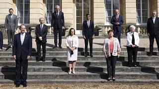 Finance ministers from across the G7 nations meet at Lancaster House in London, Saturday, June 5, 2021 ahead of the G7 leaders' summit.