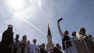 أئمة أمام المركز الإسلامي في فيينا