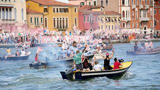 Βενετία: Διαμαρτυρία κατά των κρουαζιερόπλοιων
