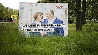 Wahlplakat mit Reiner Haseloff  in Sachsen-Anhalt