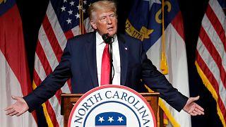 الرئيس الأمريكي السابق دونالد ترامب يتحدث في مؤتمر نورث كارولينا الجمهوري 5 يونيو 2021 في غرينفيل ، نورث كارولينا.