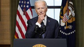 Az amerikai elnök egy áprilisi beszéde közben, a Fehér Házban