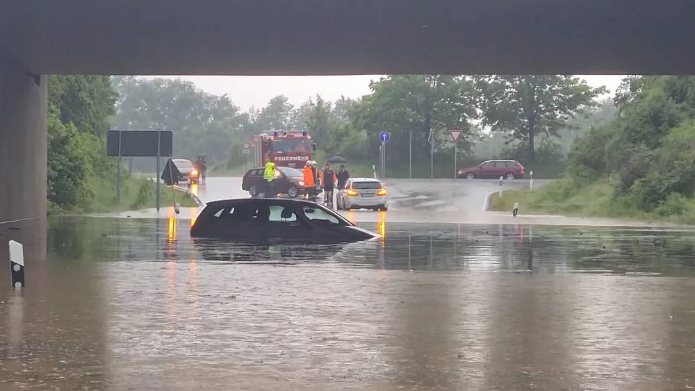Heavy rainstorms cause flooding in western Saxony thumbnail