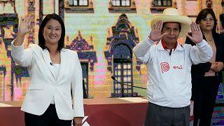 Keiko Fujimori and Pedro Castillo