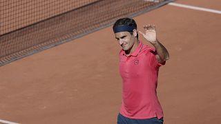 Le Suisse Roger Federer à Roland-Garros, le 31/05/2021