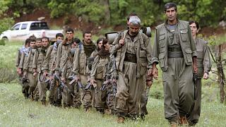 مقاتلون من حزب العمال الكردستانيشمال شرقي دهوك في العراق. 2013/05/14