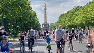 Sternfahrt: Fahrrad-Demo in Berlin