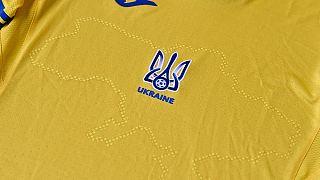 Das EURO 2020-Trikot der ukrainischen Fußballnationalmannschaft, 6.6.2021