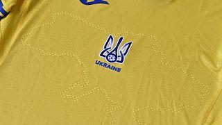 Ukrayna Futbol Milli Takımı'nın Kırım'ı da içeren haritanın bulunduğu yeni forması