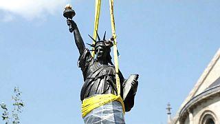 La réplique de la statue de la Liberté