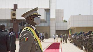 Le colonel Assimi Goïta, investi président de la transition - Bamako (Mali), le 07/06/2021